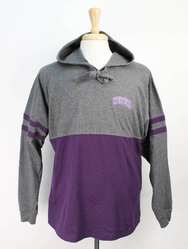 image of Purple and Charcoal Western Mustangs Jersey Hood