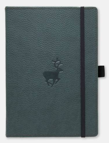 image of Dingbats Wildlife Green Deer Dotted Notebook
