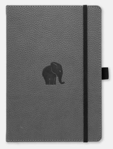 image of Dingbats Wildlife Grey Elephant Dotted Notebook