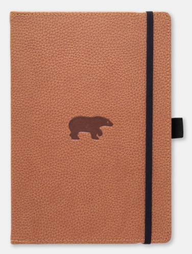image of Dingbats Wildlife Brown Bear Dotted Notebook