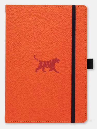 image of Dingbats Wildlife Orange Tiger Plain Notebook