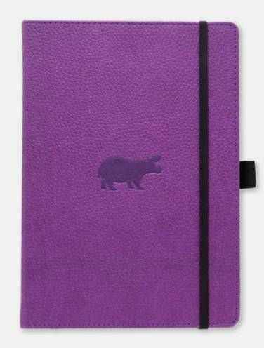 image of Dingbats Wildlife Purple Hippo Graph Notebook