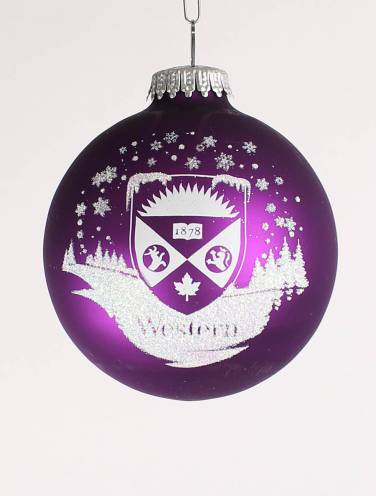 image of Purple Western Ornament with Crest