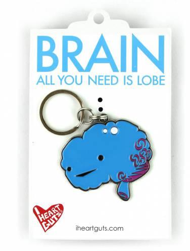 image of Brain Lobe I Hate Guts Keychain