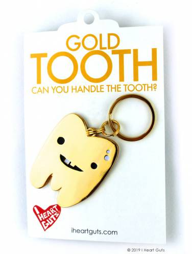 image of Gold Tooth Can You Handle The Tooth? Keychain