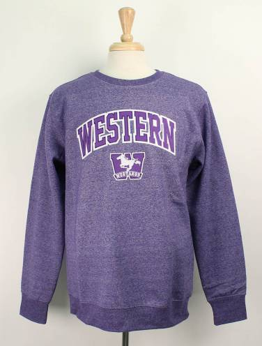 image of Purple Pepper Western Mustangs Crew Neck