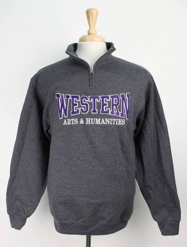 image of Charcoal Western Arts & Humanities Faculty 1/4 Zip
