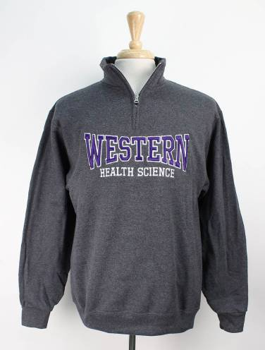 image of Charcoal Western Health Science Faculty 1/4 Zip