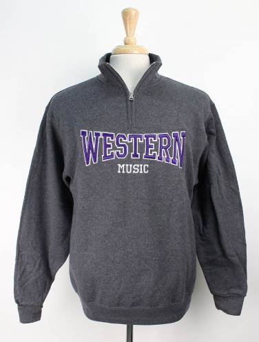 image of Charcoal Western Music Faculty 1/4 Zip
