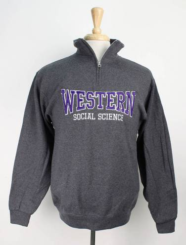 image of Charcoal Western Social Science Faculty 1/4 Zip
