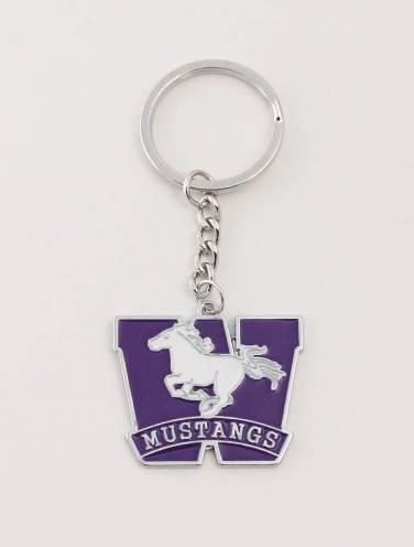 image of Purple Mustangs Key Chain