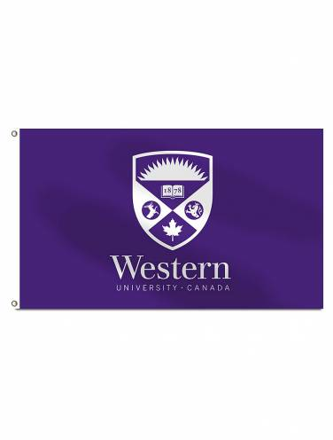 image of Purple Western Crest Flag