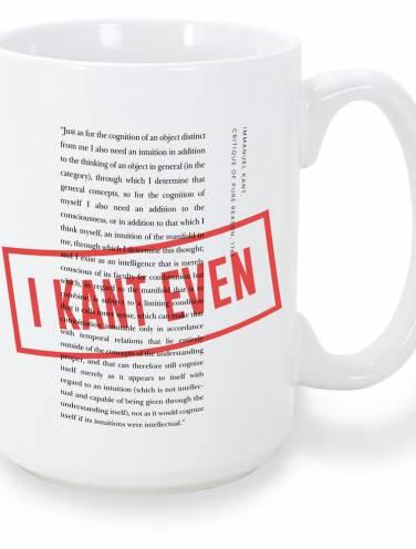 image of I Kant Even Mug