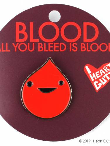image of Blood All You Bleed Is Blood Lapel Pins