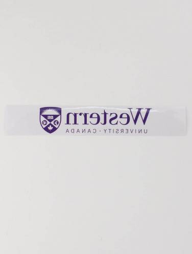 image of Western University Static Decal