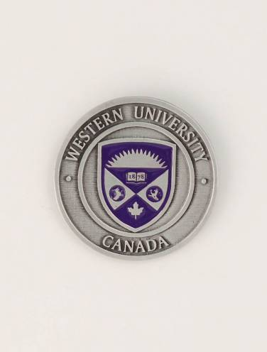 image of Pewter Western University Circular Magnet