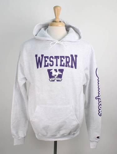 image of Silver Western Mustangs Champion Hood