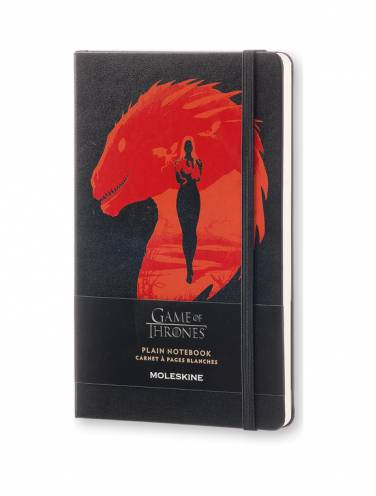 image of Game Of Thrones Large Plain Notebook Black *Op*