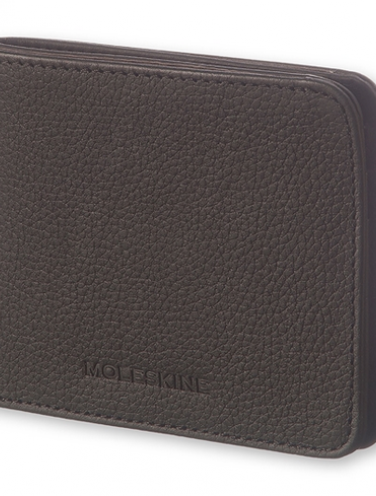image of Black Leather Lineage Horizontal Wallet