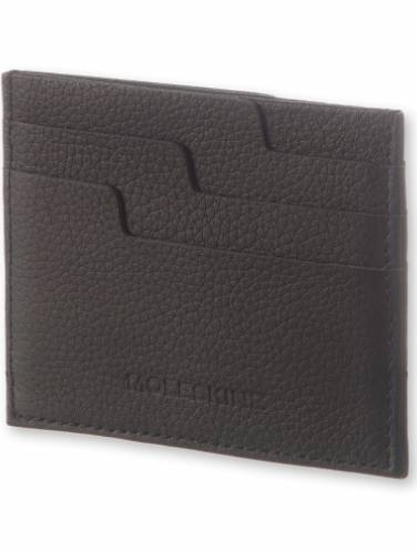 image of Black Leather Lineage Card Wallet