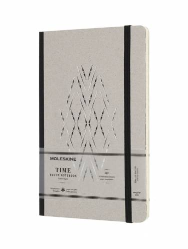 image of Time Notebook Black Large Ruled