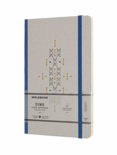 image of Time Notebook Blue Large Plain