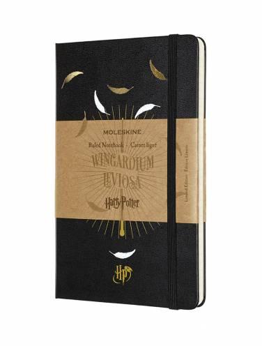 image of Harry Potter Ruled Notebook Large Black