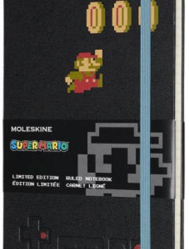 image of Super Mario Ruled Notebook Large Black