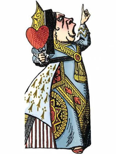 image of Queen Of Hearts Quotable Notables  Note Card