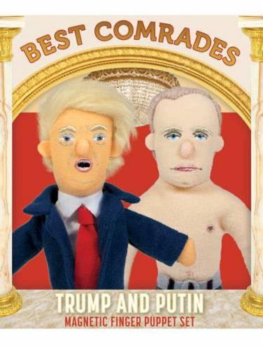 image of Best Comrades Trump & Putin Finger Puppet Set
