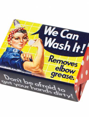 image of We Can Wash It Soap  Removes Elbow Grease