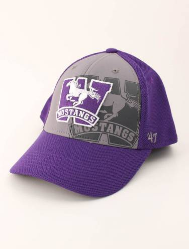 image of Purple and Grey Mustangs Hat
