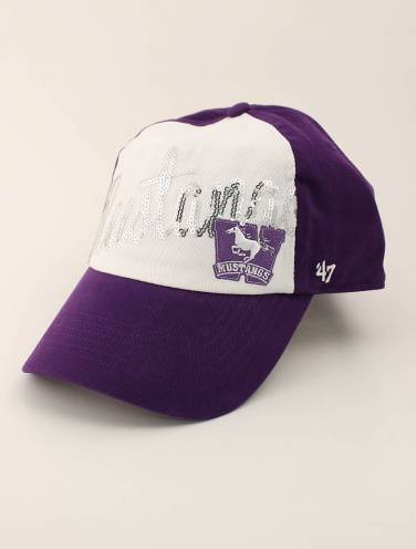 image of Purple Mustangs Ladies Sequin Hat