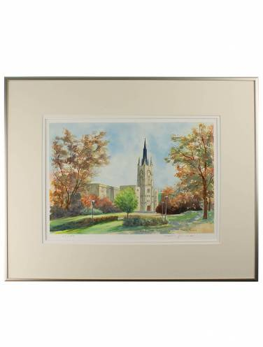 "image of Middlesex College ""On Campus"" Framed Print"