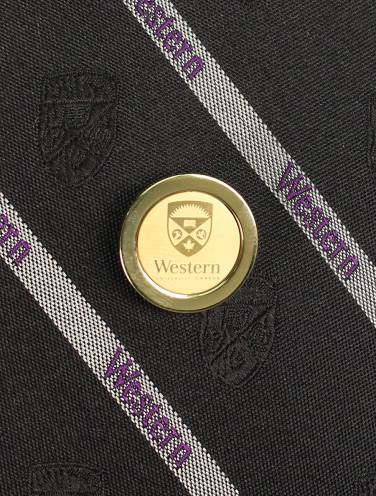 image of Gold Western University Tie Tac