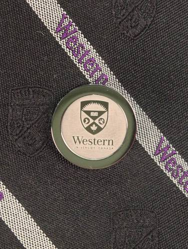 image of Silver Western University Tie Tac