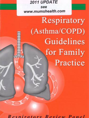 image of Respiratory Guidelines For Family Practice With 2012 Upd