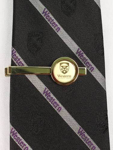 image of Gold Western University Tie Bar