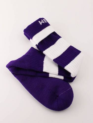image of Purple and White Western Rugby Socks