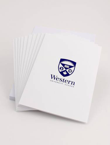 image of Note Cards with Western Logo