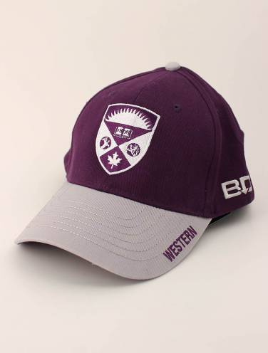 image of Purple and Grey Western Hat with Crest