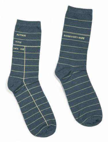 image of Library Card Socks Gray