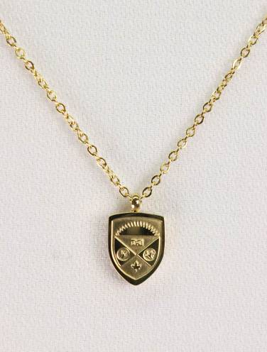 image of Mini Crest Gold Necklace
