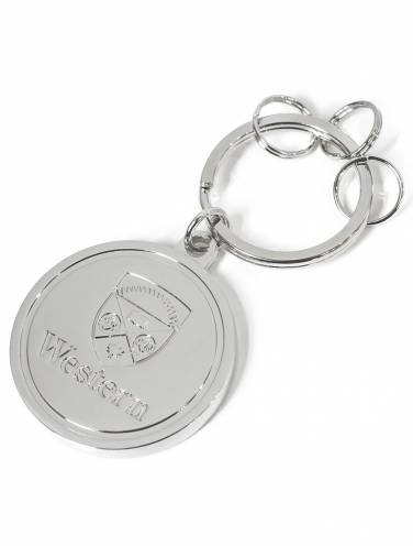image of Silver Plated Western Key Chain