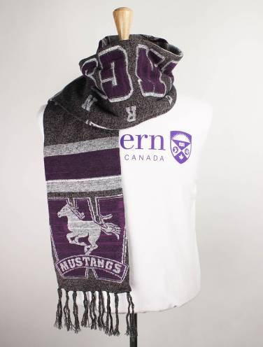 image of Black Heather Mustangs Scarf
