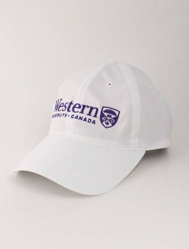 image of White Western University Cool Fit Hat