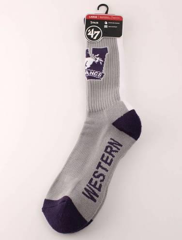 image of Grey Western Mustangs Sport Socks