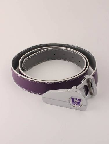 image of Purple/Grey Mustangs Golf Belt