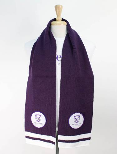 image of Purple Western University Scarf