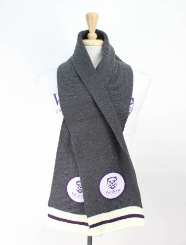 image of Charcoal Western University Scarf